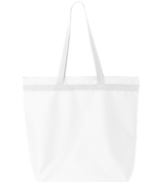 8802 UltraClub® Zippered Recycled Polyester Tote