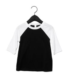 3200T Bella + Canvas Toddler Three-Quarter Sleeve Baseball Tee