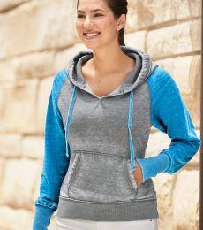 J America 8926 Women's Zen Fleece Raglan Hooded Sweatshirt