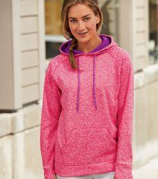 8616 J. America - Women's Cosmic Poly Contrast Hooded Pullover Sweatshirt