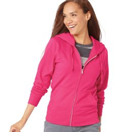 LAT 3763 Women's Zip French Terry Hoodie