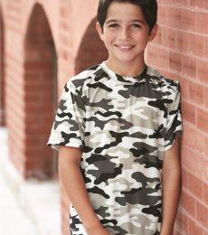2181 Badger - Youth Camo Short Sleeve T-Shirt