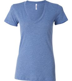 BELLA 8435 Womens Tri-blend Deep V-Neck T-shirt
