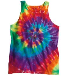 Dyenomite 420MS Multi-Color Spiral Unisex Tank Top