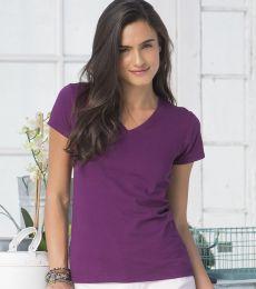 SFJV Fruit of the Loom Ladies' Sofspun™ Junior Fit V-Neck T-Shirt