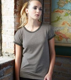 Alternative Apparel 01913E Womens Eco Ringer Tee *DISCONTINUED STYLE*