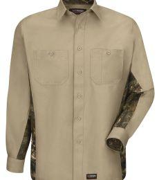 Wrangler WS30 Workwear Long Sleeve Camo Shirt
