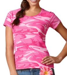 3665 Code V Ladies Camouflage T-shirt