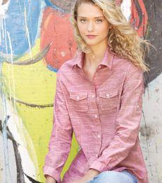 Burnside 5247 Women's Textured Solid Long Sleeve Shirt