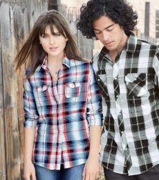 Burnside 5222 Women's Long Sleeve Plaid Shirt