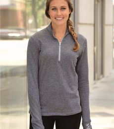 Adidas A275 Golf Women's Brushed Terry Heather Quarter-Zip Jacket