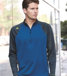 Adidas A276 Climawarm+® Quarter-Zip Colorblocked Training Top