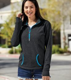 8617 J. America Women's Cosmic Fleece Quarter Zip Pullover