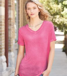 8132 J. America - Women's Oasis Wash V-Neck T-Shirt