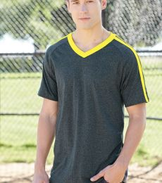 Augusta Sportswear 363 Get Rowdy Shoulder Stripe T-Shirt