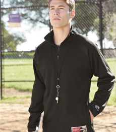 Rawlings 9761 Full-Zip Flatback Mesh Fleece Jacket