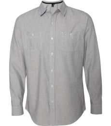 B8257 Burnside - Mini-Check Long Sleeve Shirt