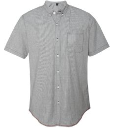 B9259 Burnside Stretch-Stripe Short Sleeve Shirt