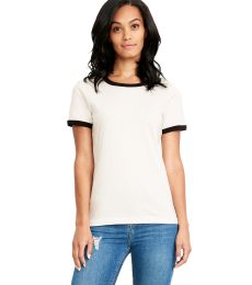 Next Level Apparel 3904 Ladies' Ringer T-Shirt