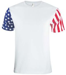3976 Code V Adult Jersey Stars & Stripes Tee