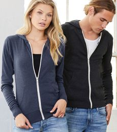 BELLA+CANVAS 3939 Unisex Tri-blend Lightweight Hoodie