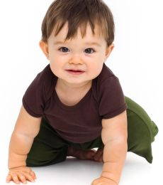4000W American Apparel Infant Baby Rib Short Sleeve Lap T