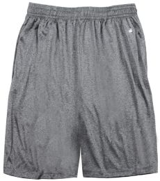 "Badger Sportswear 4319 Pro Heather 10"" Inseam Shorts"