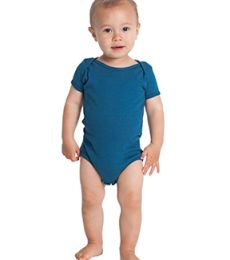 American Apparel 4001ORW Infant Organic Baby Rib Short-Sleeve One-Piece