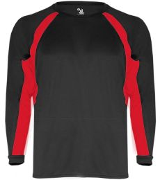 2154 Badger Youth Performance Long-Sleeve Hook Athletic Tee