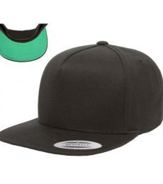 6007 Yupoong Five-Panel Flat Bill Cap