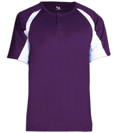 2938 Badger Youth Hook Placket Tee