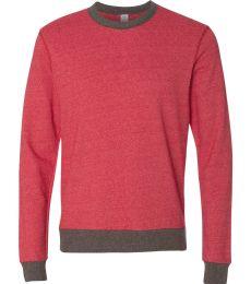 Alternative Apparel 9898 Mens Ringer Sweatshirt