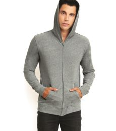 Next Level 6491 Sueded Lightweight Zip Up Hoodie