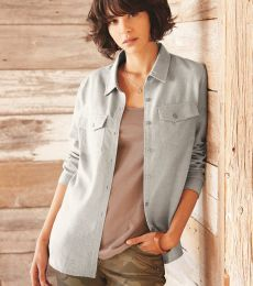 Burnside 5200 Women's Long Sleeve Solid Flannel Shirt