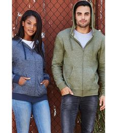 9600 Next Level Adult Denim Fleece Full-Zip Hoodie