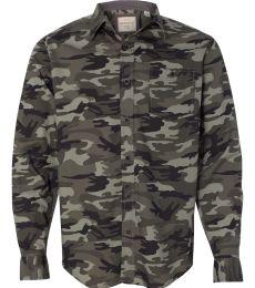 Weatherproof 154622 Vintage Camo Long Sleeve Shirt