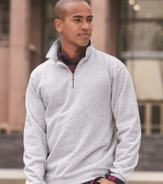 JERZEES SUPER SWEATS 1/4 Zip Sweatshirt with Cadet Collar 4528M