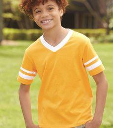 Augusta Sportswear 361 Youth V-Neck Football Tee