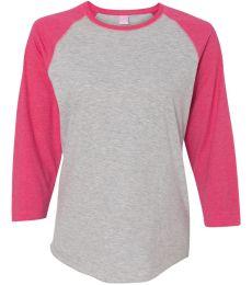 L3530 LAT - Ladies' Fine Jersey Three-Quarter Sleeve Baseball T-Shirt