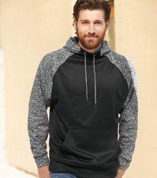 J America 8612 Colorblock Cosmic Fleece Hooded Pullover Sweatshirt