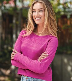 J. America 8663 Women's Hi-Low Performance Pullover