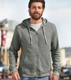 J8872 J-America Adult Tri-Blend Full-Zip Hooded Fleece