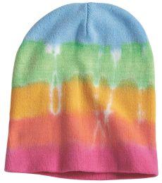 Dyenomite 870VR Tie-Dyed 12 Inch Knit Beanie