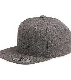 Yupoong 6689 Melton Wool Snapback Cap