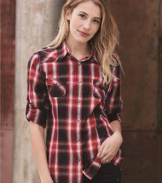 Burnside 5206 Women's Convertible Sleeve Western Shirt