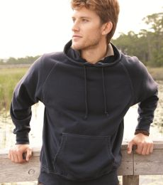 J America 8863 Vintage Hooded Sweatshirt with Contrast Color Stitching