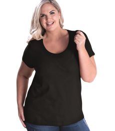 LAT 3804 Curvy Collection Women's Scoop Neck Tee