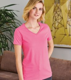 5780 Hanes® Ladies Heavyweight V-neck T-shirt - 5780