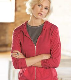 49 6759L Triblend Women's Hooded Full-Zip T-Shirt