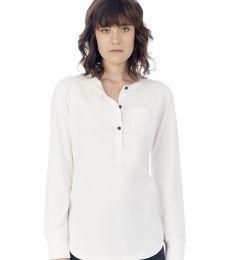 Alternative 2887 Donna Organic Pima Cotton Henley with Pocket